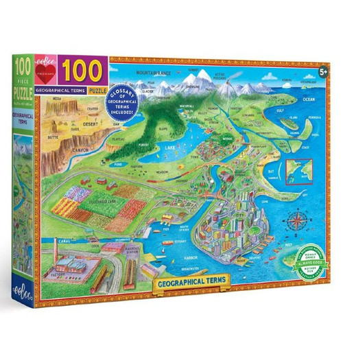 Geographical Terms - 100 Piece Puzzle