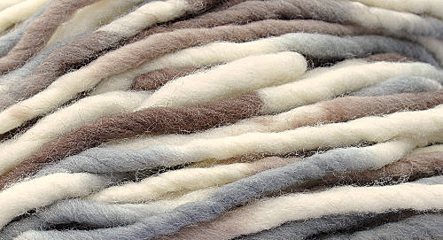 Handpaint Burly Spun Wool Yarn - Sandy Dune