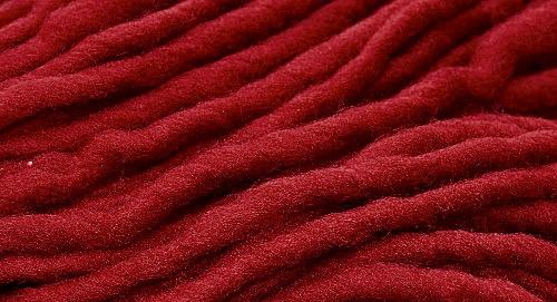 Burly Spun Wool Yarn - Ruby Red