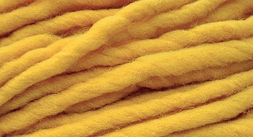 Burly Spun Wool Yarn - Lemon Drop