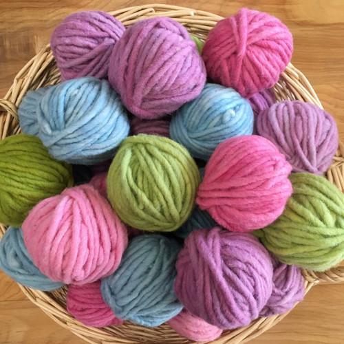 Organic Plant Dyed Finger Knitting Yarn