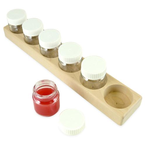 Paint Jar Holder & 6 Jars
