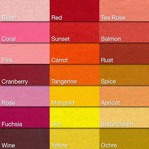 Warm Color Chart