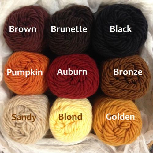 Lamb's Pride Wool Yarn Doll Hair Colors