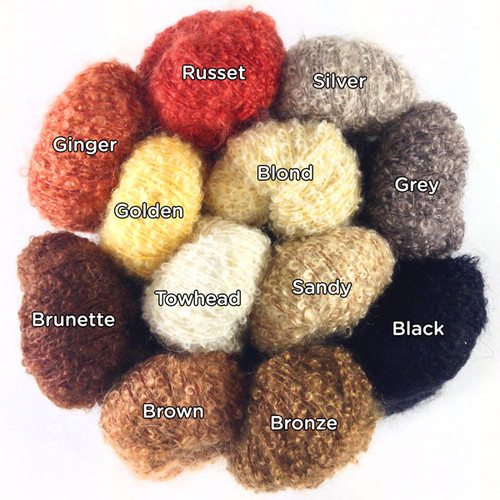 Little Loop Mohair Bouclé Doll Hair Yarn