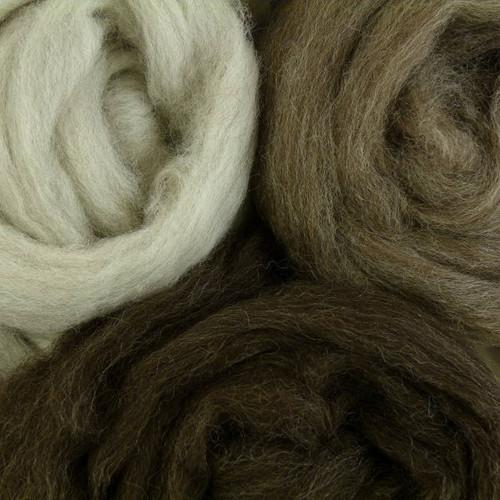 Light Gray, Medium Gray, and Dark Gray Brown