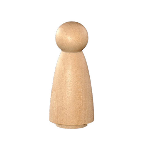Wood Peg Doll - Female (8)
