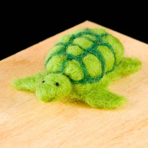 Woolpets Turtle Needle Felting Kit - Easy