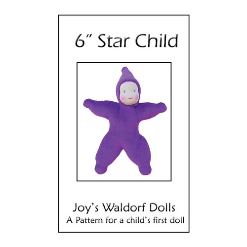 "6"" Velour Star Child Pattern"