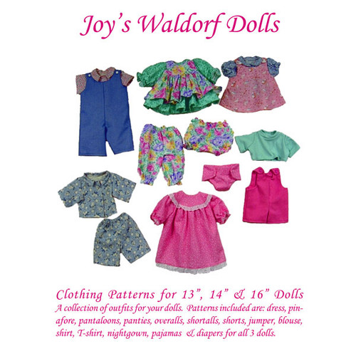 "Clothing Pattern for 13"", 14"" & 16"" Dolls - Joy's Waldorf Dolls"