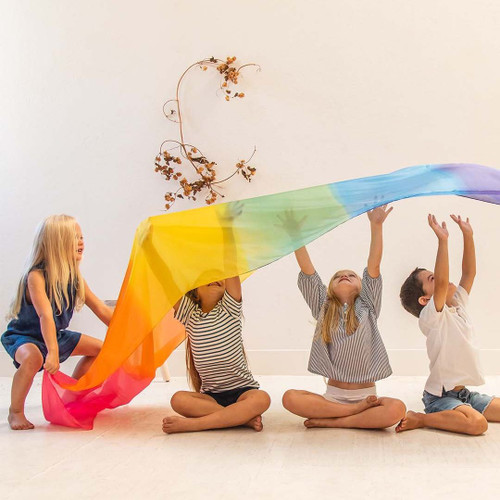 Sarah's Silks Giant Rainbow Play Silk