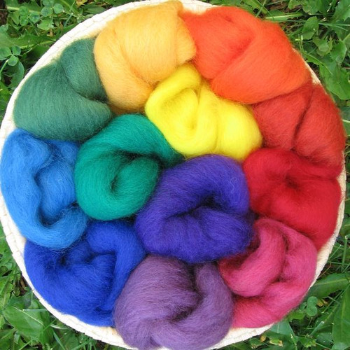 Corriedale Wool Sampler - Rainbow Jewel
