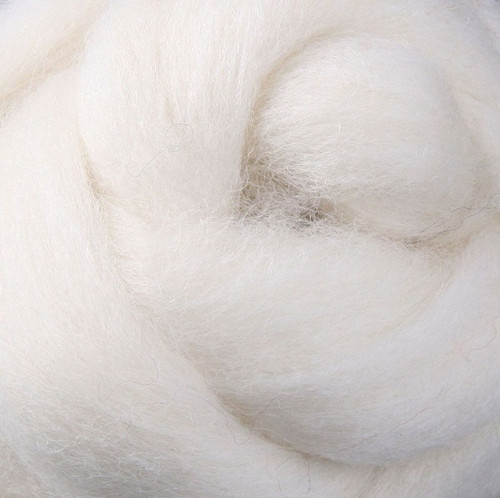 Corriedale Wool Roving - White