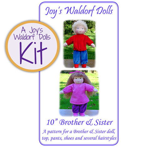 "10"" Brother or Sister Doll Making Kit - Girl"