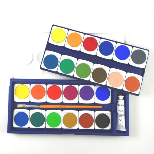 Lyra Opaque Watercolor Paint Set - 24 Colors