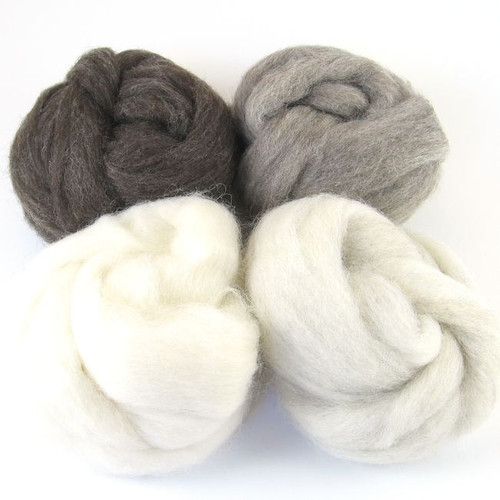 Corriedale Wool Sampler - Natural Colors