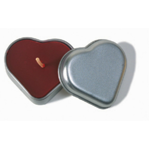 Beeswax Aromatherapy Heart Candle in a Tin
