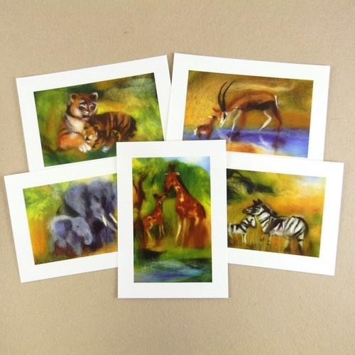 Savannah Animals Postcard Set