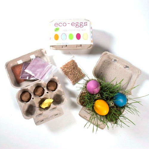 Eco-Egg Coloring + Grass Growing Kit