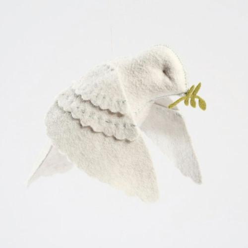 Felt Sewing Kit - White Peace Dove