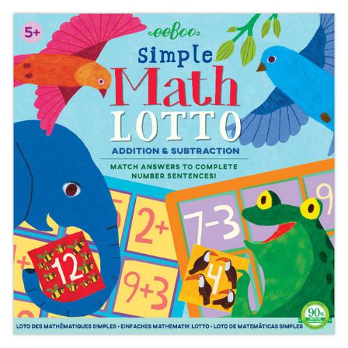 Simple Math Bingo Game
