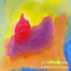Waldorf Wet on Wet Watercolor Example 2