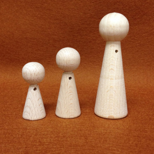 The Kimmie Wooden Peg Doll for Dollhouse