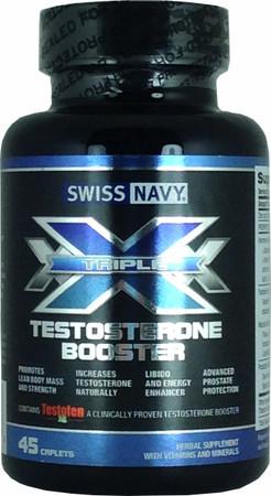 Swiss Navy Triple X Testosterone Booster Bottle