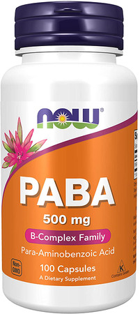 Now PABA 500mg bottle