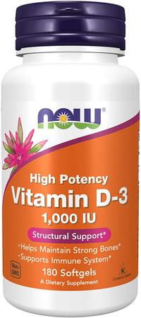 Now Vitamin D-3 1000IU bottle