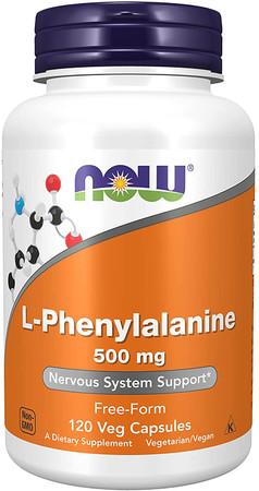 Now L-Phenylalanine 500 mg bottle