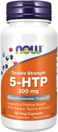 Now Double Strength 5-HTP 200mg bottle