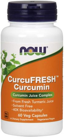 Now CurcuFRESH Curcumin bottle