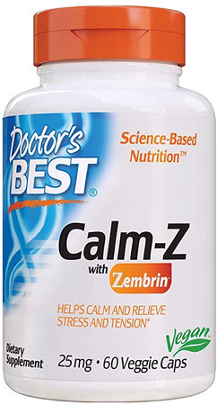 Doctors Best Calm-Z with Zembrin 25 mg