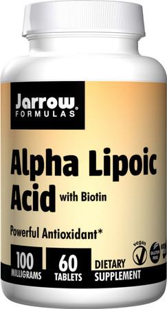Jarrow Formulas Alpha Lipoic Acid with Biotin 100 mg bottle
