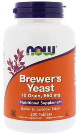 Now Brewer's Yeast 10 Grain 650 mg bottle