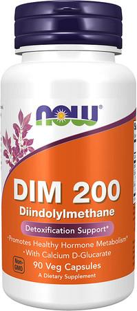 Now DIM 200 DIINDOLYLMETHANE bottle