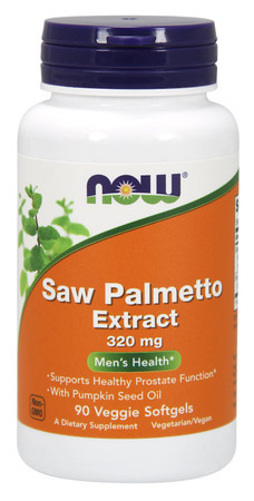 Now Saw Palmetto Extract 320 MG Bottle
