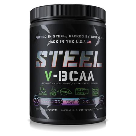 Steel Supplements V-BCAA Bottle