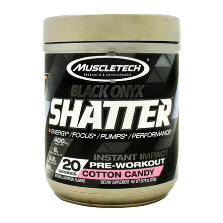 MuscleTech Black Onyx Shatter Bottle