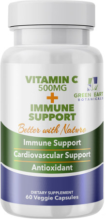 Green Earth Botanicals Vitamin C + Immune Support Bottle