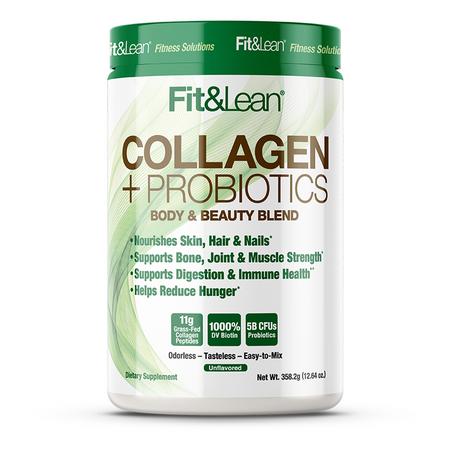MHP Fit & Lean Collagen + Probiotics Bottle