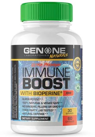 GenOne Laboratories Immune Boost With Bioperine Bottle