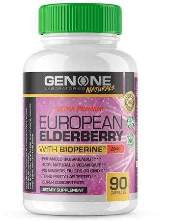 GenOne Laboratories European Elderberry With Bioperine Bottle
