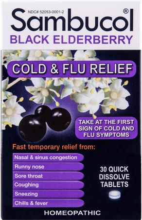 Sambucol Black Elderberry Cold & Flu Relief Box
