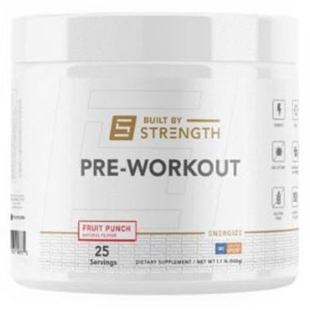 Built By Strength Pre-Workout bottle