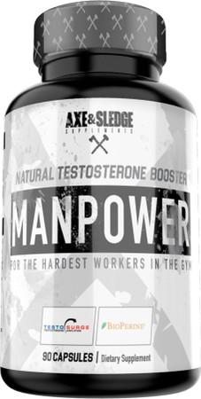 Axe & Sledge Manpower Natural Testosterone Booster Bottle