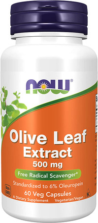 Now Olive Leaf Extract 500mg bottle