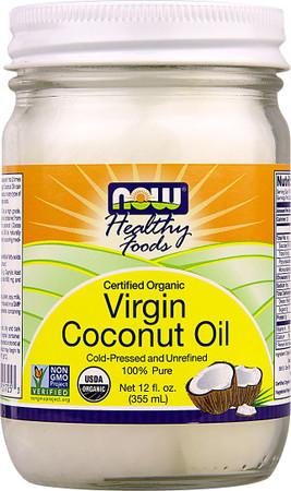 Now Organic Virgin Coconut Oil Bottle