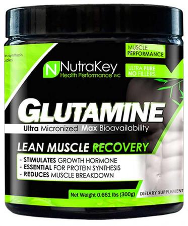 NutraKey Glutamine Bottle